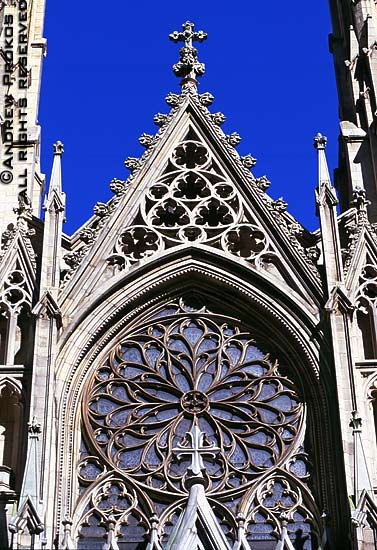 A stonework detail from theGothic facadeof St. Patrick's Cathedral, New York City