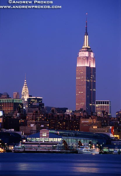 View Of The Empire State Building At Dusk Fine Art Photo