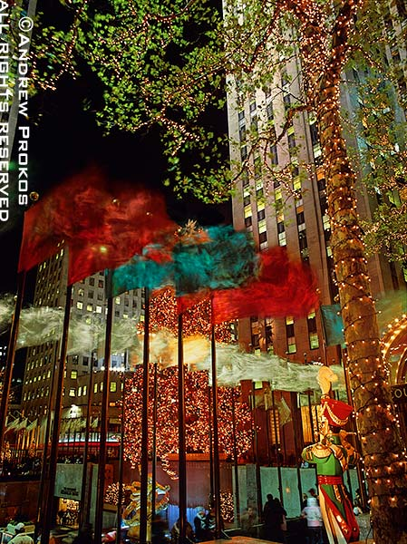 Rockefeller Center's famous Christmas lights and decorations, New York City