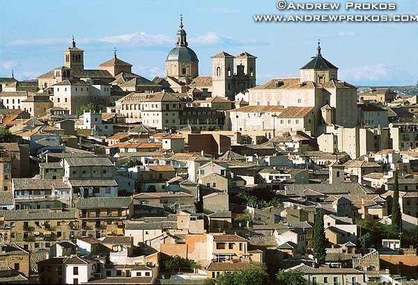 A Toledo cityscape with houses and other buildings, Spain