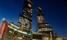 time warner center columbus circle night