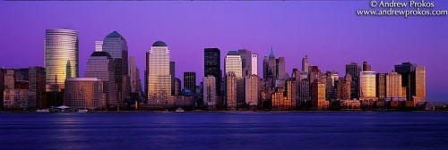 lower manhattan skyline nj at dusk V