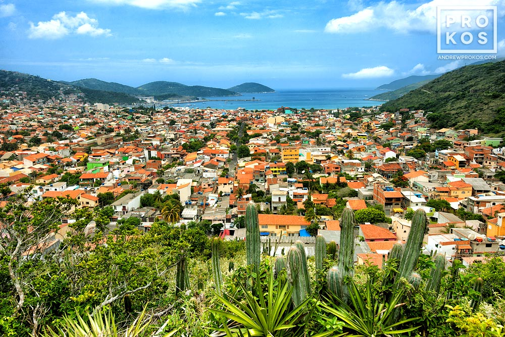 A view of the town of Arraial do Cabo, Brazil.