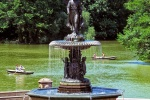 The famous Angel Fountain at Bethesda Terrace in New York's Central Park