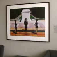 """30""""x40"""" photo of the Tomb of the Unkown Soldier in the McLean, VA offices of Booz Allen Hamilton"""
