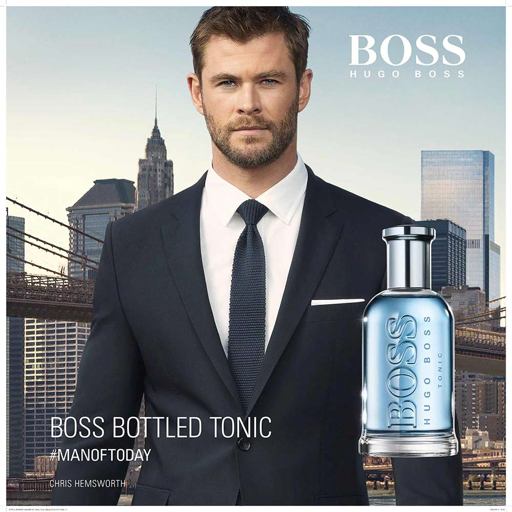Hugo Boss Bottled ad campaign with high-res city imagery by photographer Andrew Prokos
