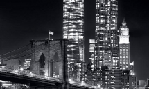 BROOKLYN BRIDGE NIGHT  BW PX