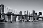 brooklyn bridge panoramic bw