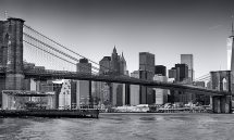 BROOKLYN BRIDGE PANORAMA DAY  BW PX
