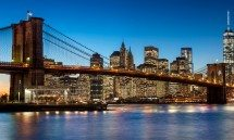 BROOKLYN BRIDGE TWILIGHT  PX