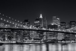 BWNYCBRBRPANNT BROOKLYN BRIDGE PANO NIGHT BW PX