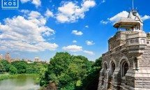 A view of Belvedere Castle in Central Park, New York City