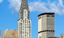 A view of the Chrysler Building and Met Life Building, New York City
