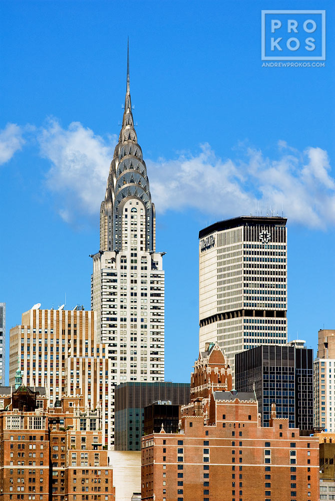 A view of East Midtown, the Chrysler Building, and the Met Life Building during the day, New York City