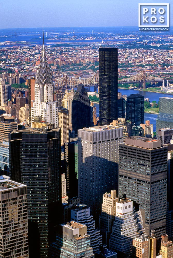 The East view of Midtown Manhattan from the Empire State Building, New York City