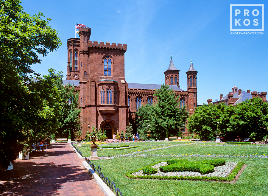 View of the Smithsonian Museum, Washington DC
