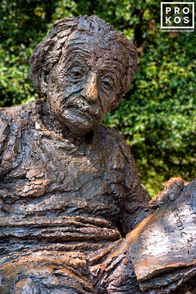 The memorial to Albert Einstein at the National Academy of Sciences, Washington DC