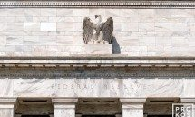 A detail from the facade of the Federal Reserve building, Washington DC