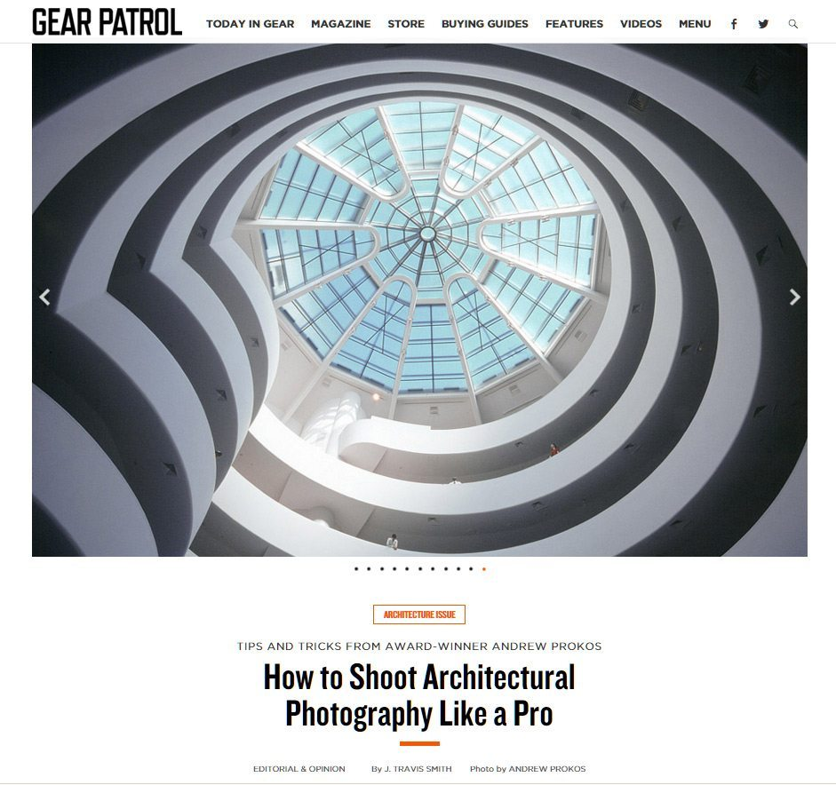 Gear Patrol Interview with Architectural Photographer Andrew Prokos