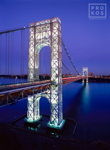 GEORGE WASHINGTON BRIDGE DUSK VT PX