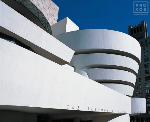 Exterior view of the Guggenheim Museum, New York City