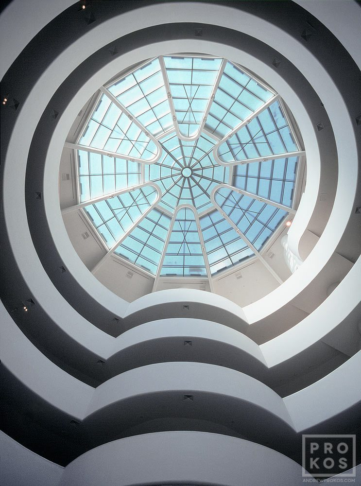 Interior view of the rotunda of the Guggenheim Museum, New York City