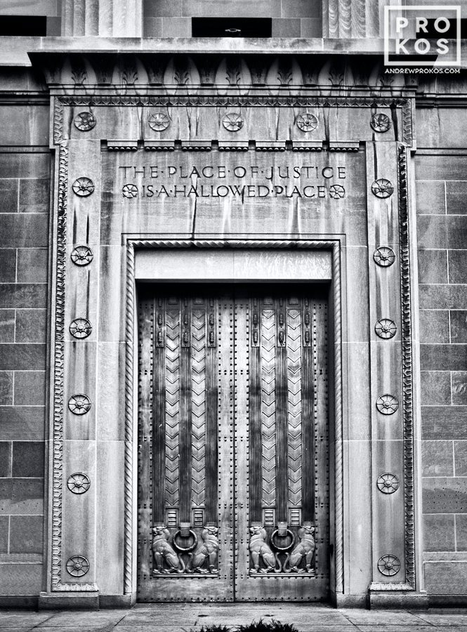 Art Deco doors at the United States Department of Justice building, Washington DC
