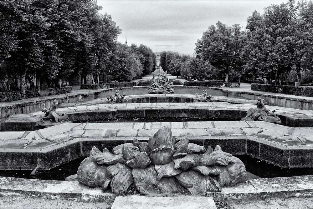 Fountains in the gardens of the Royal Palace at La Granja de San Ildefonso, Spain