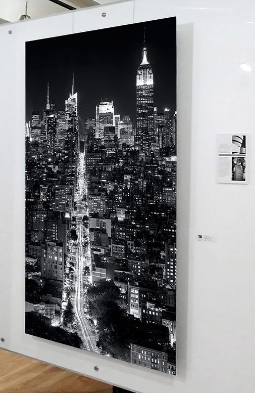 New York Black and White Cityscape - Vertical Metal Print