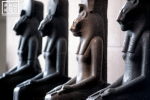 Statues of the goddess Sakhmet from the Metropolitan Museum's Egyptian collection, New York City
