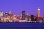 nyc panorama dusk hoboken nj