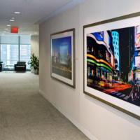 "Panoramic View of Times Square at Night, 50""x82"""