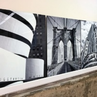 Black and white fine art photos of New York City landmarks printed on HD metal by photographer Andrew Prokos