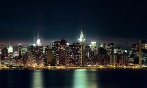 NYC SKYLINE FROM BROOKLYN NIGHT PX