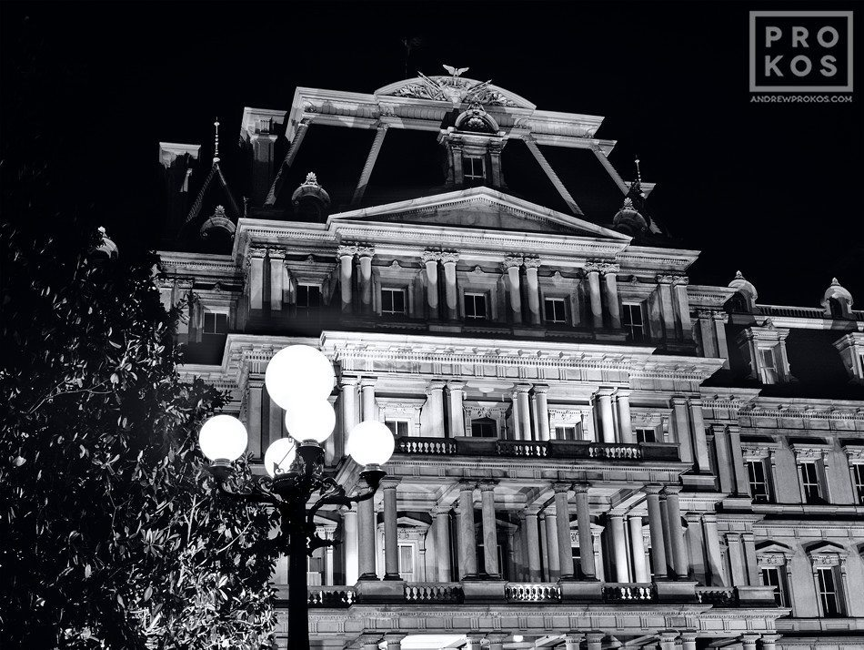 The Old Executive Office Building at night, Washington D.C.
