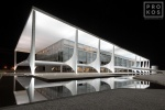 Palacio do Planalto at Night
