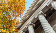 A view of Whig Hall in autumn, Princeton University, New Jersey