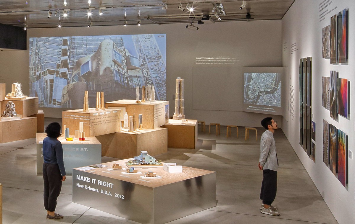 Frank Gehry I Have an Idea Exhibition in Tokyo, featuring architectural photography by Andrew Prokos