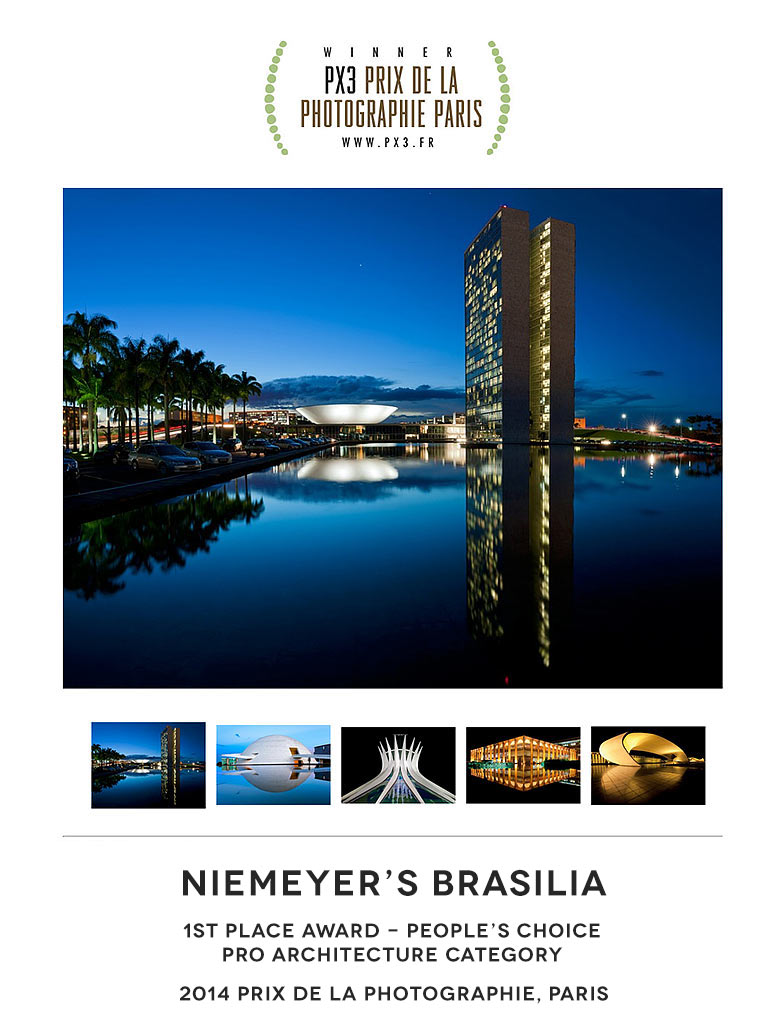 Photographer Andrew Prokos wins 2014 Px3 People's Choice Award for Niemeyer's Brasilia