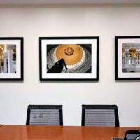 A trio of Washington DC architectural photos in color for the conference room of Quarles & Brady LLP