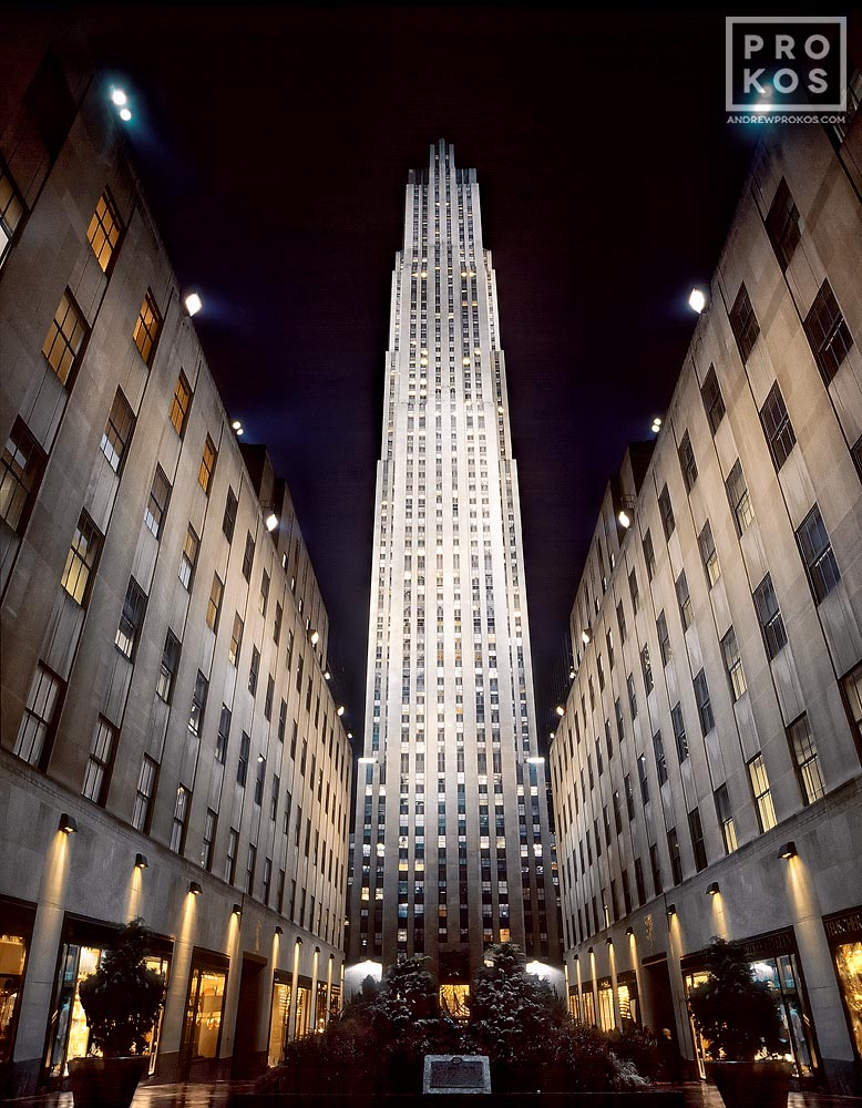 Rockefeller Center At Night I Fine Art Photo By Andrew