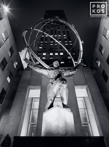 ROCKEFELLER CENTER ATLAS BW PX