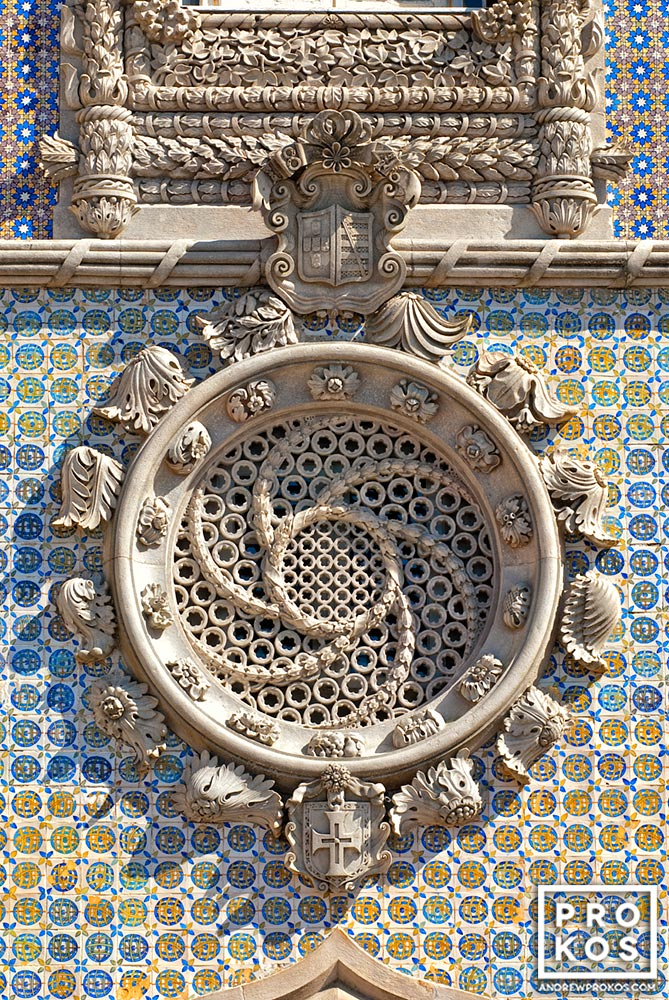 A Manueline-style roundel from the Palacio da Pena in Sintra, Portugal