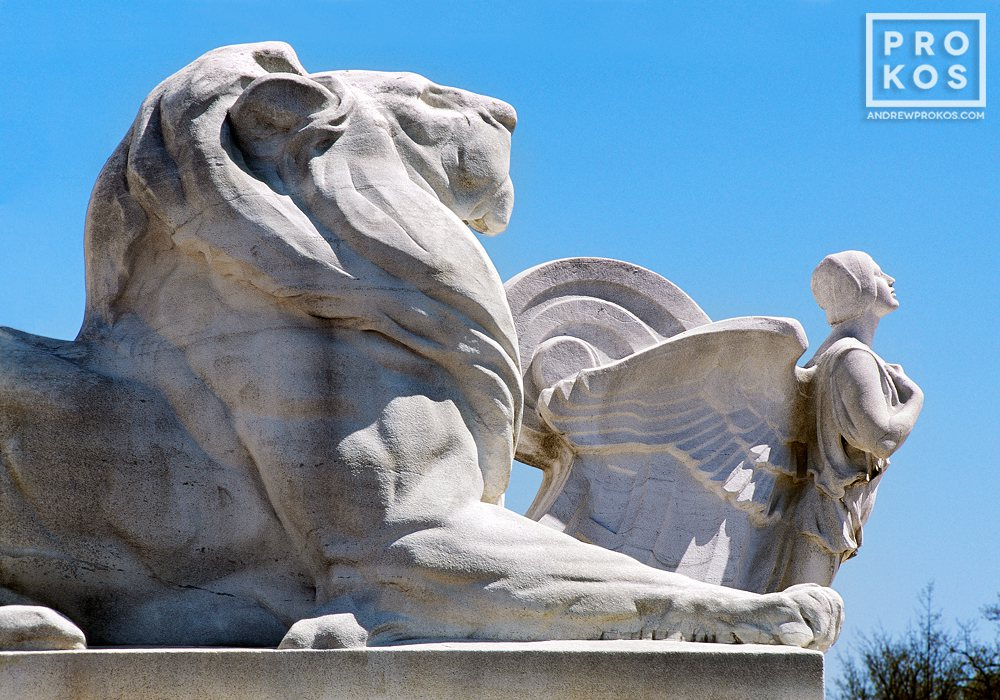 A detail from the Columbus Fountain at Union Station, Washington DC