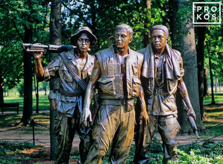 The Three Servicemen Statue at the Vietnam Memorial, Washington DC.