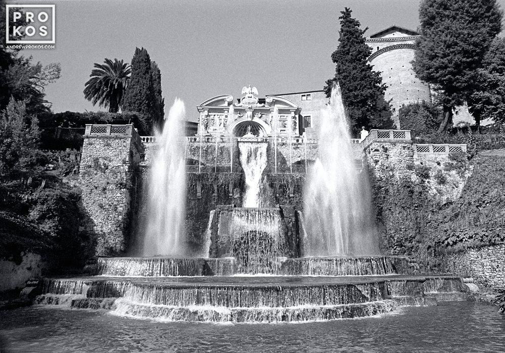 The famous Organ Fountain in the gardens of the Villa D'Este, Tivoli, Italy