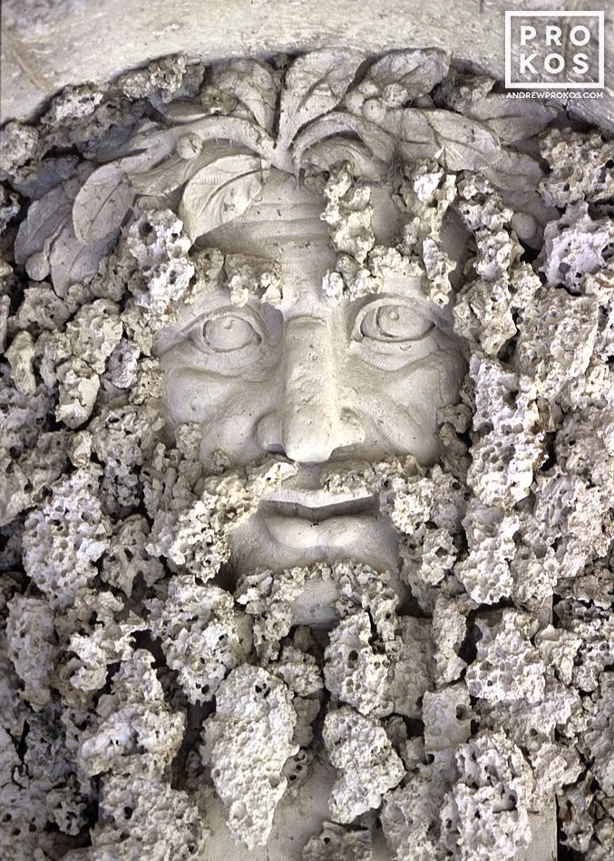 A neptune made from coral at the Vizcaya Museum in Miami, Florida