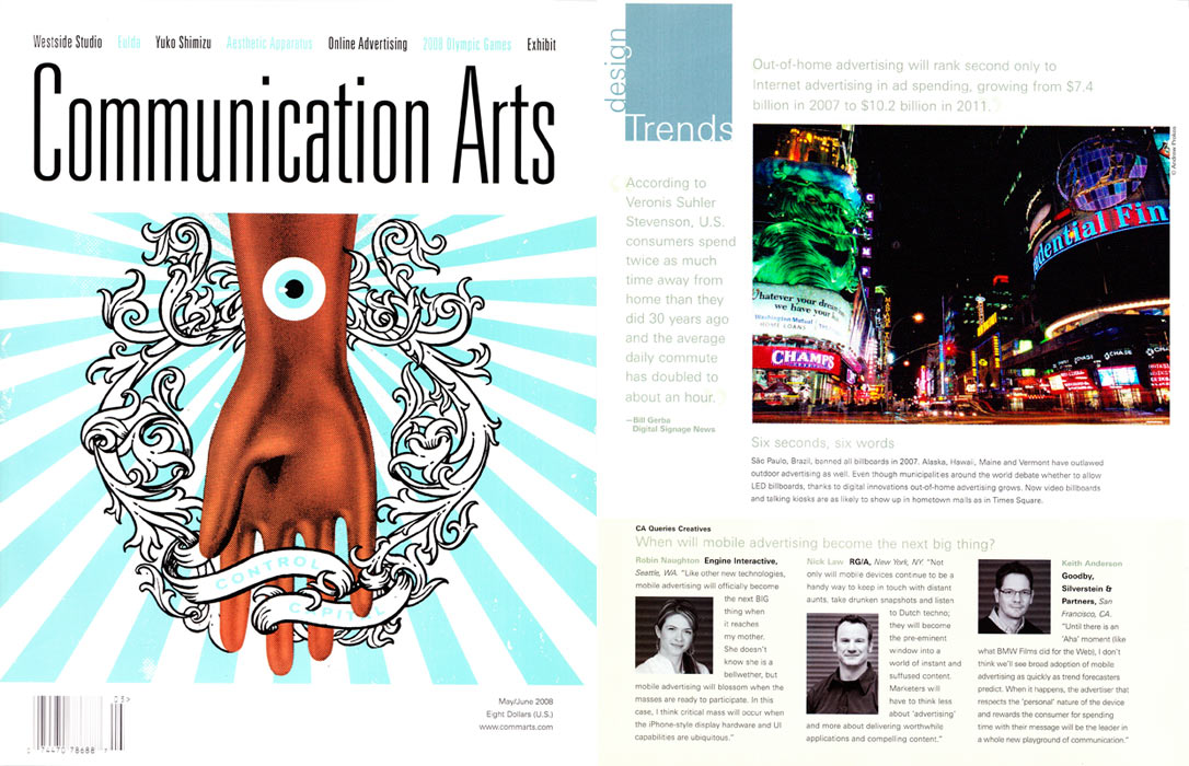 Andrew Prokos's photography of Times Square, NYC was also published in Communication Arts magazine