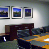 """72"""" panoramic photo triptych in the Gibbs & Soell conference room, New York City"""