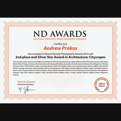 nd certifcate Andrew Prokos PX